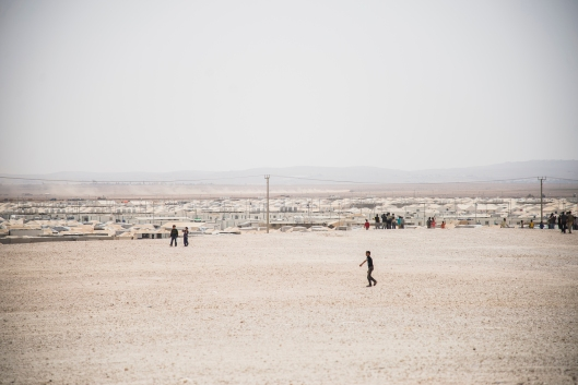Zaatari is a vast camp in Jordan with well over 100,000 Syrian refugees