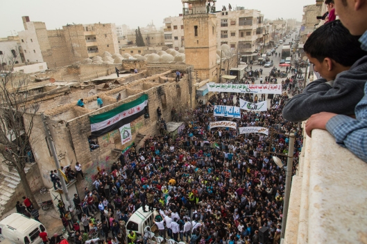 A celebration of the liberation of the city Al Bab from the regime. The question I was always asked was 'When will the killing end'